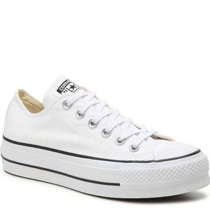 Platform White Converse Sneakers *NEVER WORN*